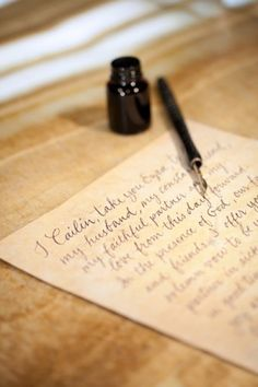 Calligraphy-Letter writing.
