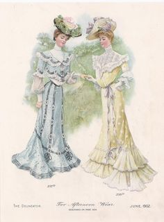 Afternoon Wear ~ The Delineator, June 1902