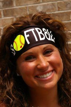 Hey, I found this really awesome Etsy listing at https://www.etsy.com/listing/245599956/softball-headband-stayband