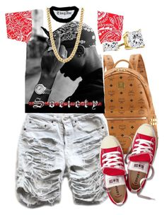 """""""Society"""" by lulu-foreva ❤ liked on Polyvore featuring MCM and Converse"""