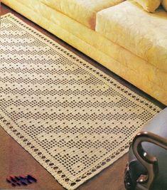 tapete de croche 1 441x500 Tapete de Croche em Barbante   Com Grafico Flores…
