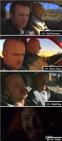 "Throughout the show, Jesse is almost always dragged along somewhere against his will. In ""Felina,"" though, you see him finally in control of his life. 