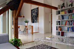Blog wnętrzarski - design, nowoczesne projekty wnętrz: Mieszkanie na poddaszu byłej stodoły w Słowenii - architektura wnętrz