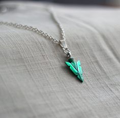 Arrow Green Arrow Head Oliver Queen Symbol Handmade and Hand painted
