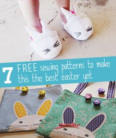 7 free bunny sewing patterns for Spring or Easter.  I love the kids bunny backpack!  Adorable.