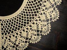 Peter Pan collar necklace / Crochet detachable lace collar / | Etsy Peter Pan Crochet, Col Crochet, Crochet Collar, Lace Collar, Cotton Crochet, Collar Dress, Soft Grunge, Grunge Style, Handmade Accessories