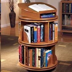 Nice The Carousel Bookcase Revolving Bookcase Offers Access To Your Books With A  Gentle Spin, And You Can Stack And Rearrange The Units. Nice Design