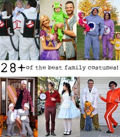 28  of the BEST family Halloween Costumes.  So funny. #howdoesshe #familycostumes howdoesshe.com Easy Homemade Halloween Costumes, Halloween Crafts, Halloween Look, Cool Halloween Makeup, Funny Halloween, Halloween 2014, Holidays Halloween, Halloween Party, Halloween Decorations