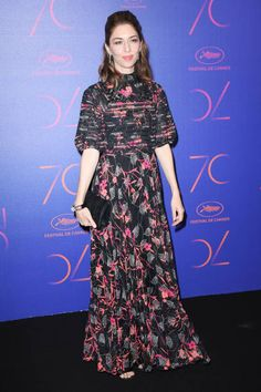 Sofia Coppola in Valentino Pre-Fall 2017 attends the 70th Anniversary Dinner during the 70th annual Cannes Film Festival at on May 23 2017 in Cannes France