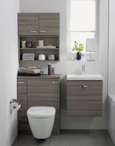 Additional image of Ideal Standard Concept Space WC Unit With Left Hand Storage Cupboard Elm