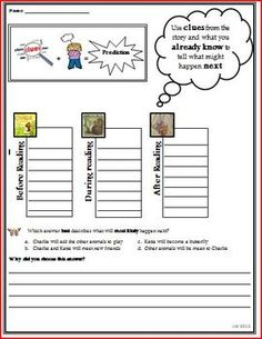 Charlie the Caterpillar Predicting Reading Strategy