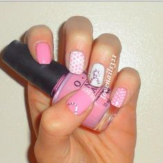 breast cancer nail art | Breast Cancer Awareness nail art :-) | Make Up - Must Try's