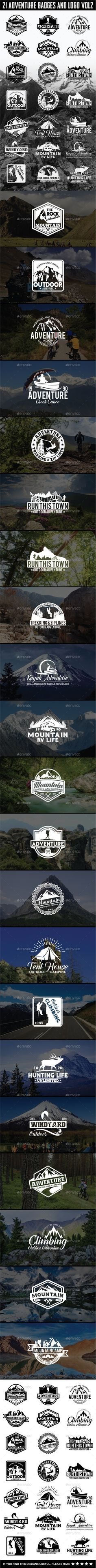 21 Adventure Badges and Logo Vol2 - Badges & Stickers Web Elements