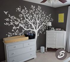 Large tree wall decal Tree decal for nursery Temporary wall decor for nursery Tree and birds wall decal, mural sticker for kids room Tree Decal Nursery, Tree Decals, Nursery Wall Decor, How To Hang Wallpaper, Hanging Wallpaper, Old Bed Sheets, Temporary Wall, Vinyl Wall Stickers, Tree Wall