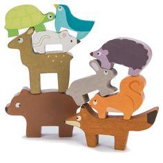 Le Toy Van stabellegetøj i træ, Petilou - Skovens dyr