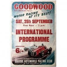 24x36 Wereldkampioenschap Nederland Grand Prix 1959 Vintage Style Car Poster