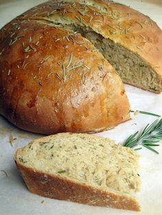 Rosemary Olive Oil Bread - i love rosemary bread! of course i love any type of bread - it is my weakness