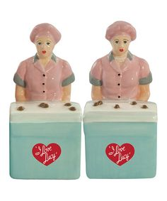 Take a look at this Westland Gifts Lucy & Ethel Salt & Pepper Shakers by Film & TV Classics: Kitchen Accents on #zulily today!