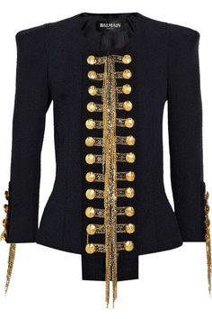 "Is it just me, or does the whole ""I like a man in uniform,"" inspire more than just men's wear? Example: this military jacket that provokes a sense of rebelliousness. Watch out Les Miserable, black is actually the color of edge."