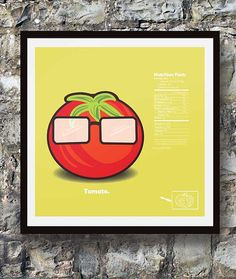 Smart Kitchen Food Facts Illustrated Tomato  12x12 by SheepSmarts, $12.00 Smart Kitchen, Food Facts, Tomatoes, Kitchen Decor, Truck, Logo Design, Health, Business, Health Care