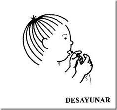 Desayunar Sign Language For Kids, Sign Language Words, American Sign Language, Signs, Children, World, Learn Sign Language, Words In Sign Language, Learning English