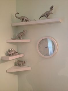 Dinosaur... I just love the shelving!!