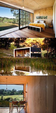 5 Awesome Homes That Think Outside the Box Home Design, Tiny House Design, Off Grid House, Casas Containers, Pump House, Container House Design, Cabins In The Woods, Little Houses, My Dream Home