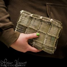 Handmade Safety Pin Clutch by AmberVigeantPhoto on Etsy, $50.00