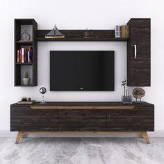 Tv Unit Furniture Design, Tv Unit Interior Design, Interior Design Living Room, Living Room Decor, Tv Living Rooms, Tv Unit For Living Room, Wall Cabinets Living Room, Tv Unit Decor, Tv Wall Decor