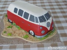 How to make VW buss cake