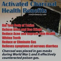 Activated Charcoal benefits.  #ActivatedCharcoal #UCICarbons http://ucicarbons.com/