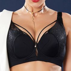 33a8ee04ce Plus Size J Cup Sexy Push Up Lightly Lined Harness Bra. Fashion women  clothes online all in ...