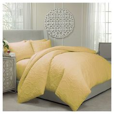 Barcelona Coverlet Set Queen Gold 3 Piece - Vue® : Target