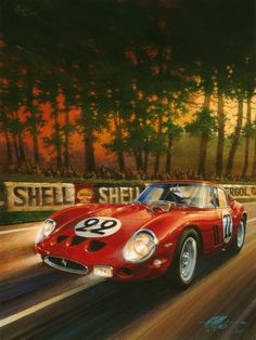 Automotive artist Michael Mate depicts the glory days of road racing on canvas