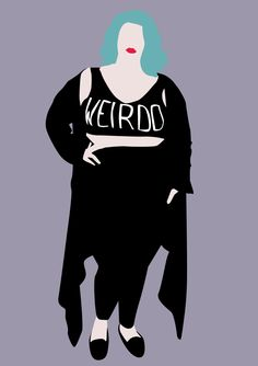 The Curvy Fashionista | Plus Size Art: Murder of Goths Illustrations