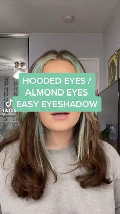 Edgy Makeup, Makeup Eye Looks, Cute Makeup, Simple Makeup, Skin Makeup, Natural Makeup, Nagel Piercing, Makeup Looks Tutorial, Hooded Eye Makeup Tutorial
