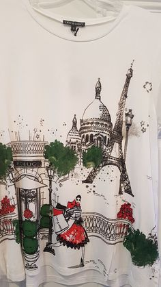 Ladies Leo & Ugo Top with Lady Shopping Downtown Paris Boutique Style TEB395 Fashion Boutique, Christmas Sweaters, Leo, Paris, Shopping, Beautiful, Tops, Style, Swag