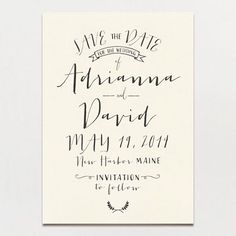 A Printable Press – Modern Calligraphy Save the Date
