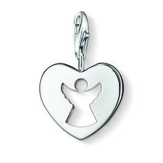 From the Thomas Sabo Charm Club collection, the guardian angel charm is made in sterling silver; a symbol of life-long protection, making the perfect Christening or early birthday gift. Thomas Sabo, Argent Sterling, Sterling Silver, James Jewelry, Your Guardian Angel, Angel Heart, Angel Pendant, Life Symbol, Silver Prices