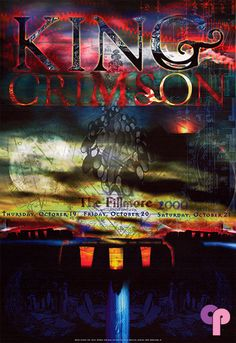 Classic Poster - King Crimson at Fillmore Auditorium San Francisco, CA 10/19-21/00 by Ryan Blu