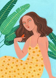 Helena Perez Garcia on Artistic Inspiration and the Business of Illustration Portrait Illustration, Illustration Girl, Digital Illustration, Les Gifs, Dope Art, Whimsical Art, Art Inspo, Art Reference, Illustrators