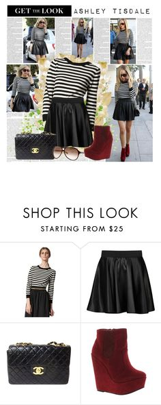 """Get The Look: Ashley Tisdale"" by florenciagarcia ❤ liked on Polyvore featuring Ultimate, Alice + Olivia, Influence and Chanel"