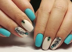 Feather nail art is maybe the most effective alternative that you simply will create. However, there is also times that you simply feel as if making feather nail art is just too. Peacock Nail Designs, Peacock Nail Art, Feather Nail Art, Nail Art Designs, Nails Design, Turquoise Nail Designs, Cute Acrylic Nails, Gel Nails, Coffin Nails