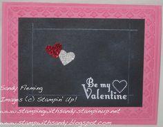 Stamp with Sandy - Valentine chalkboard technique