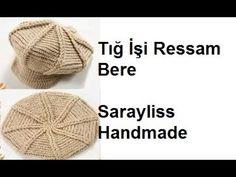 Tığ işi Ressam Bere - YouTube Crochet Hats, Youtube, Crocheted Hats, Youtubers