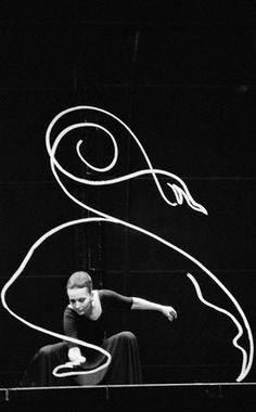 The painter Ludmilla Tcherina performs in Paris' Beaubourg Museum of Modern Art, May 10, 1978 -by Alain Dejean