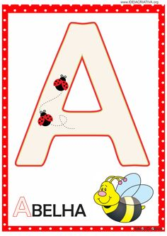 Alphabet For Kids, Learning Resources, Teaching English, Ladybug, Diy And Crafts, Homeschool, Symbols, Letters, Education