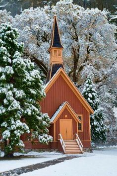 Yosemite Chapel by Cindy Costa