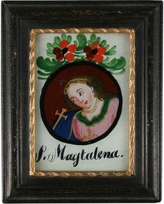 """Magdalena anònim alemany s.XIX pintura sobre vidre   Museum """"Schöne Stiege"""" Riedlingen"""