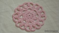 """Crochet Patterns! Easy And Free! Crochet This Mini Doily Today! This is a great little Doily. It is great for a coaster or doily. Simple and easy project. It is 4"""" wide and made with Aunt Lydia's Bamboo Crochet Thread. Enjoy and have fun! Don't forget to block your work!"""